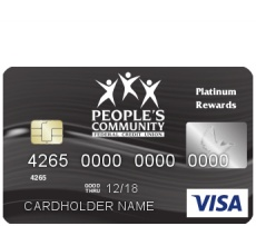 People's Community Federal Credit Union offers members the Visa® Platinum Rewards Credit Card